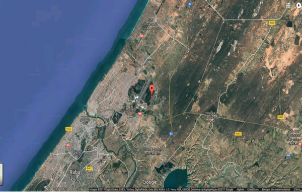 Photo satellite du centre nucléaire de Maamora (Menadéfense)