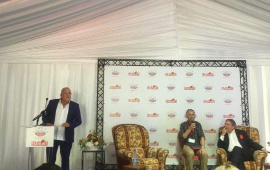 Photo conférence Elafruits et Agrana