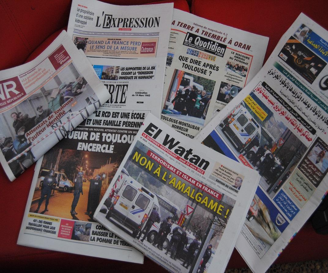 Image journaux algériens