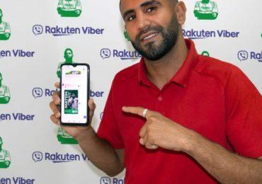 Riyad Mahrez s'associe à la messagerie Viber pour lancer sa chaîne web